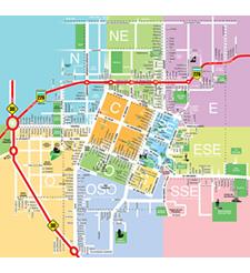 Plano de calles de Tandil